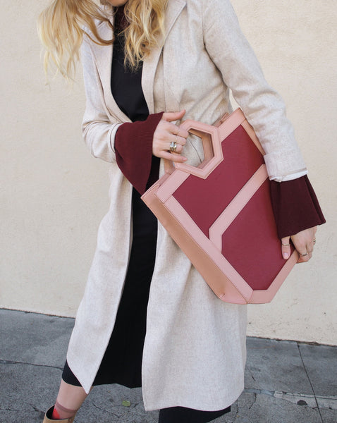 AVA Tote in Mars Red