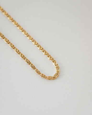 Unique paperclip design gold chain necklace @thehexad