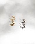 Unisex silver and gold hoop earrings for effortless fashion @Thehexad