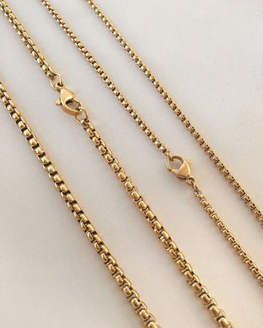 Vintage box chain necklace in varying thickness and length - The Hexad