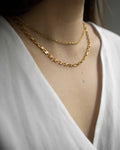 Vintage choker chain necklace in gold @thehexad