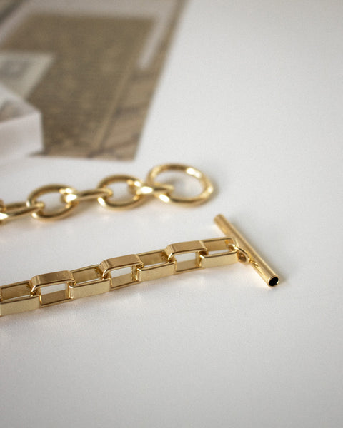 Vintage inspired golden chain choker - Parallel necklace by The Hexad