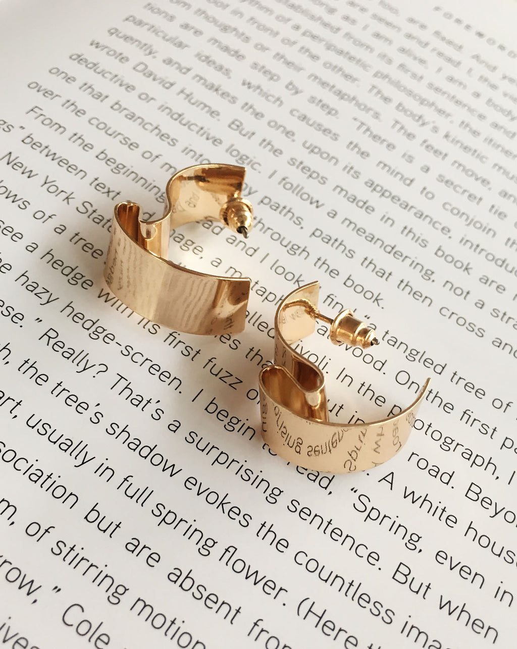 Wavy Metal Gold Ear Studs by TheHexad