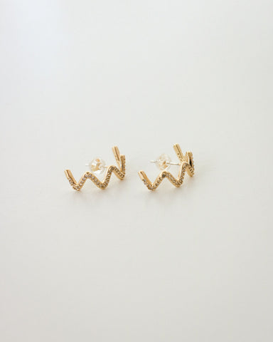 Wavy rhinestone suspender earrings @thehexad