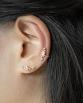 Wear a cluster of stars on your ears with The Hexad's Constellation ear studs and ear cuffs