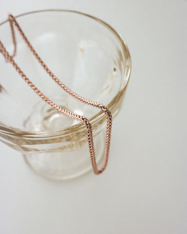 Woven Chain in Rose Gold by The Hexad