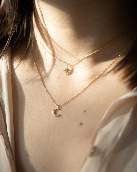 add a whimsical cosmic touch of sparkle with THE HEXAD's Polaris Necklace