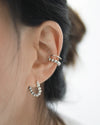 Contemporary beaded ear cuff and hoop earring for a perfect ear stack by The Hexad