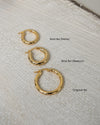 bestselling gold rei hoops collection from the hexad