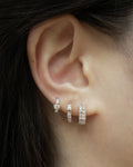 brand new collection of diamond huggie hoop earrings designed for your everyday stack @thehexad