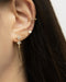 chic diamante earrings for dainty jewelry lovers from fashion label the hexad