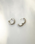 Kiyo chunky round hoop earrings by The Hexad