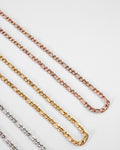 classic figaro style chain necklaces in gold, rose gold and silver by TheHexad