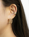 create a trendy stacked ear with just a single ear hole