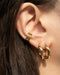 curate your modern ear stack with the hexad's bestselling golden hoops and ear cuffs