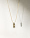 dainty chain necklace with pretty pendant embellished with diamonds