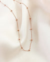 delicate ball and chain necklace in rose gold for a touch of sophistication @thehexad