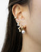 elegant pearl inspired ear stack for women with multiple piercings