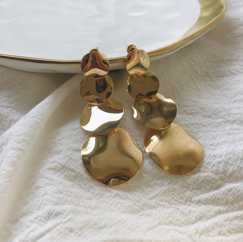 ELLERY Disc Drop Earrings in Gold - The Hexad Jewelry