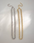 glamorous chic chain chokers in gold and silver available on The Hexad online shop