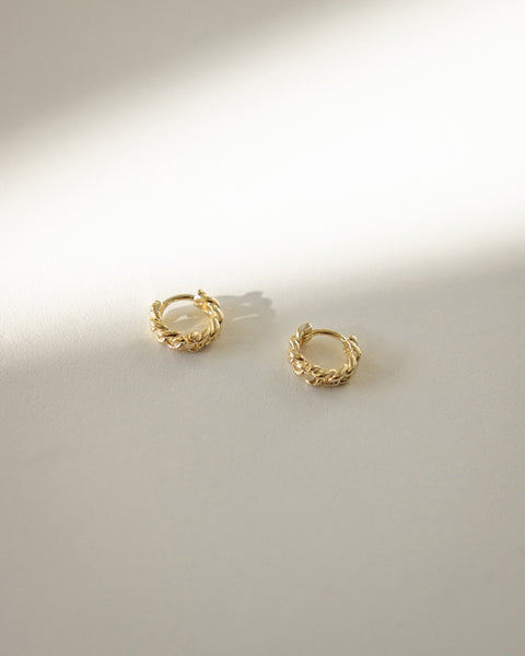 gold huggie hoop earrings from everyday wear by accessories label the hexad