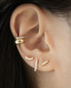 how to layer miniature pave ear studs for the perfect stack