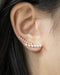 no piercing pearl ear cuffs that accentuates your ear lobes - The Hexad Jewelry