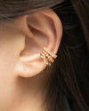 no piercings required to pull off these gorgeous contemporary ear cuffs designed by jewelry label the hexad