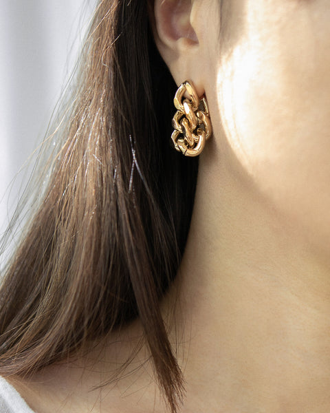 Oversized chunky chain hoop earrings by TheHexad