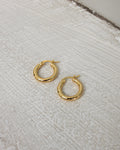 petite thick rei hoop earrings in gold by The Hexad Jewelry