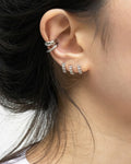 silver ear stack by modern accessories label the hexad