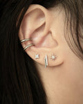 silver pave stud earrings @thehexad
