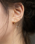 simple hugger earrings in small size 8mm diameter