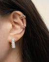 statement dazed earrings and double dynasty ear cuffs for an impactful stack