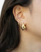 style your first to third ear piercings with contemporary hoops and stud earrings from the hexad