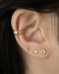HOLLOW Heart Studs