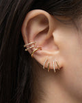 the best way to curate ear party for ears with only one piercing