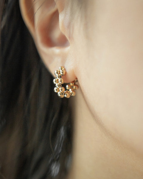 tiny beaded hoop earrings @thehexad jewelry