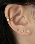 tiny starburst and heartshape stud earrings | The Hexad Jewellery