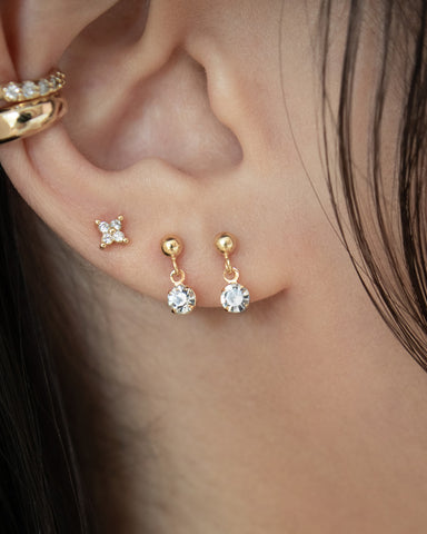tiny zirconia ear studs and ear cuffs @thehexad