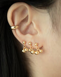 triple stack cherry dangle ear studs by the hexad