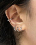 triple stack rylee chain huggie hoop earrings @thehexad
