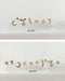 whimsical micro stud earrings multi-pack of six or nine