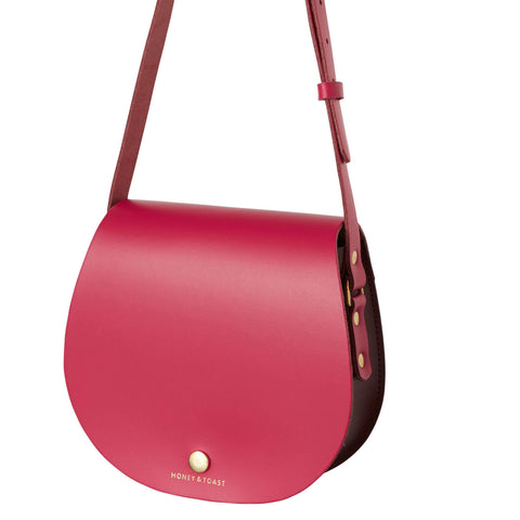 Etter Saddlebag | Wine Red & Bright Pink