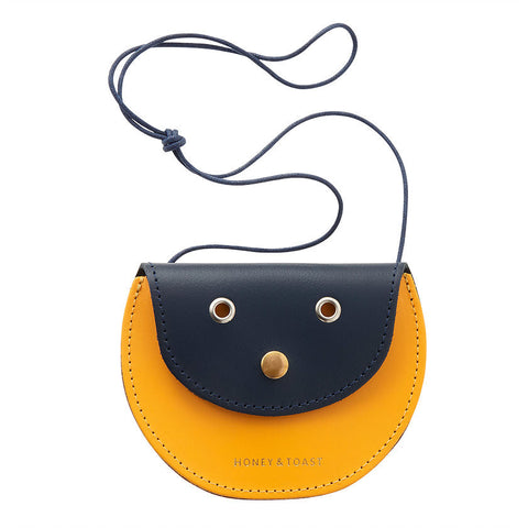 Pippin Purse | Navy Blue & Sun Yellow