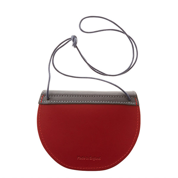 Pippin Purse | Stone Grey & Cherry Red