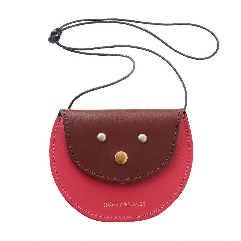 Pippin Purse | Wine Red & Bright Pink