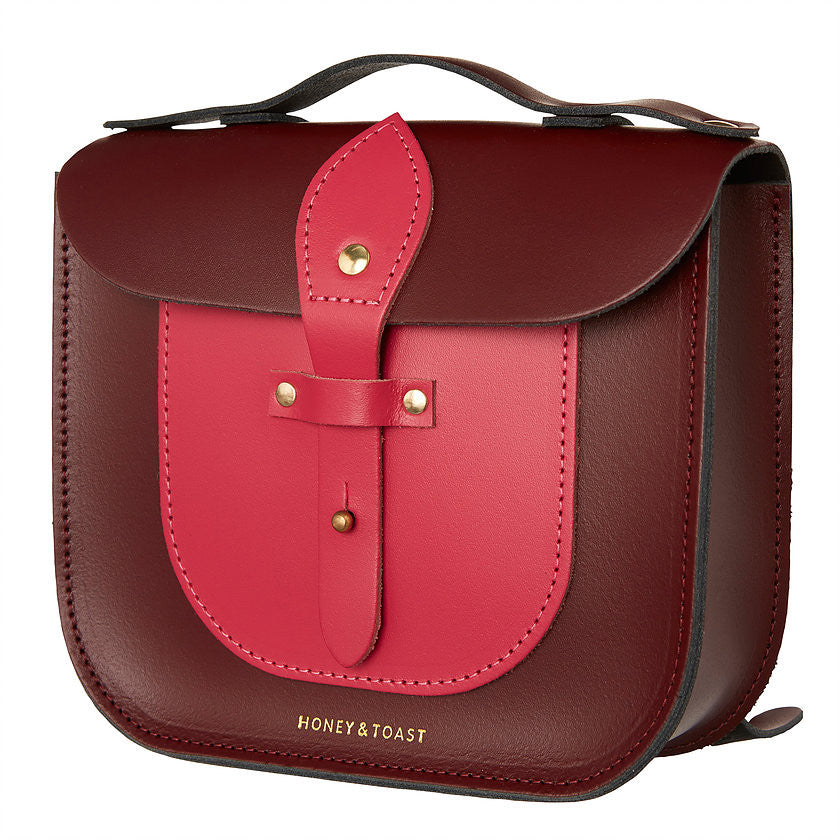 Rocket Scooter Satchel | Wine Red & Bright Pink