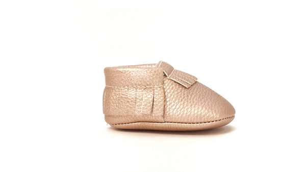Moccasins | Rose Gold