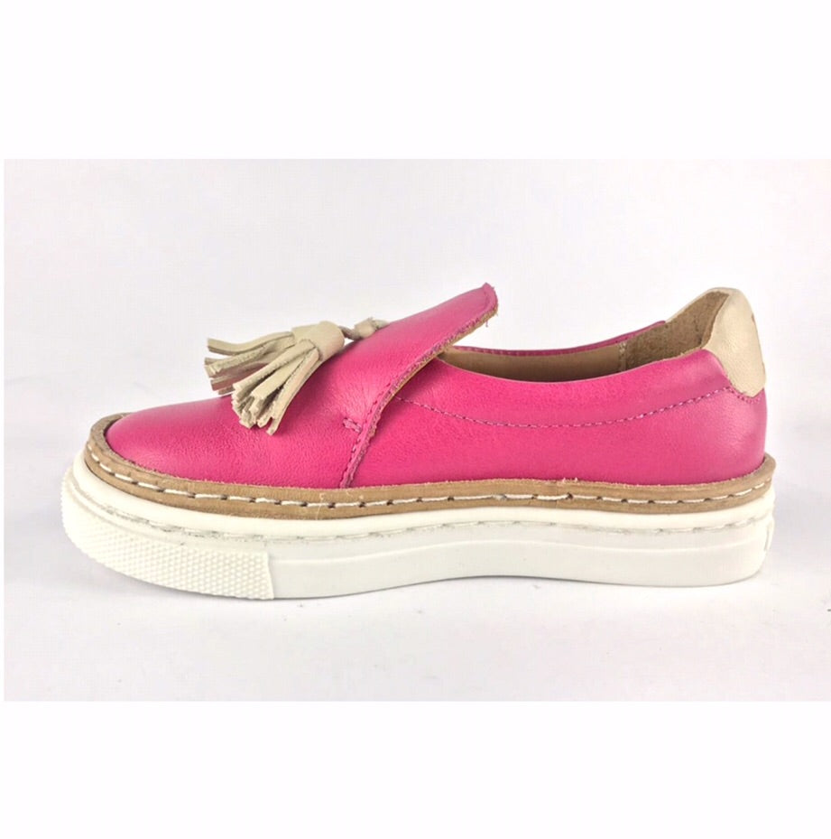 Shokunin Shoes - Tassel Loafers - Pink Yarrow